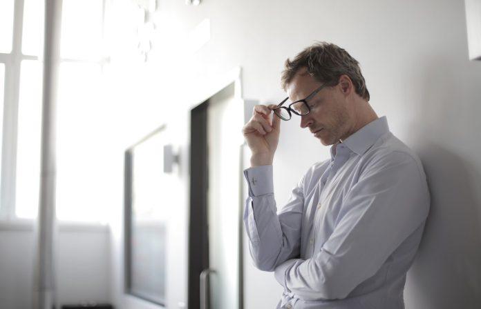 stress bij een man